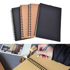 Retro Spiral Bound Coil Sketch Book Blank Notebook Kraft Sketching Paper LAUS
