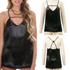 Fashion Sexy Women Casual Sleeveless Halter Vest Cross Backless Tops Blouse
