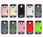 10pcs/lot Wire Drawing PC+TPU Hybrid Case Armor Card Hard Cover For Motorola
