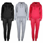 Ladies Tracksuit Womens Jogging LoungeWear Bottom Hooded Top Studded Joggers Set