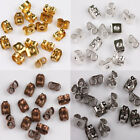 20/100Pcs Wholesale Silver Gold Plated Ear Cip Earrings Stopper Findings Jewelry
