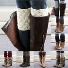 Winter Women Brief Coarse Knitted Leg Warmers Socks Boot Cover stylish Chic
