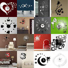 Modern 3d Home Decoration Crystal Mirror Living Room Sticker Diy Wall Clock Gift