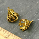 6pcs Solid Brass Filigree Flower Vine Bead Cap jewelry making findings bc39
