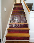 3D Red woods 24 Stair Risers Decoration Photo Mural Vinyl Decal Wallpaper AU