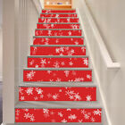 3D White snowflakes Stair Risers Decoration Photo Mural Vinyl Decal Wallpaper AU