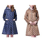 Stylish Hooded Polka Dot Raincoat Pocket Waterproof Rainwear Poncho Jacket New