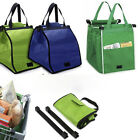2pcs Insulated Grab Bag Reusable Grocery Shopping Ecofriendly Bag Clip-To-Cart