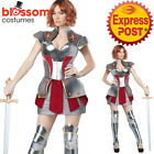 CA139 Joan of Arc Heroic Knight Medieval Warrior Woman Fancy Dress Hero Costume
