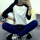 New Women Loose Long Sleeve Cotton Casual Blouse Shirt Tops Fashion T-shirt LAUS
