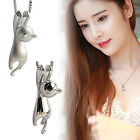 CHIC Fashion Women 925 Sterling Silver Cat Chain Pendant Necklace Charm Jewelry