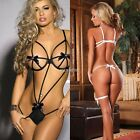 Sexy Women's G-string Babydoll Lace Dress Sleepwear Bandage Underwear Lingerie