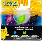 Tomy Pokemon Z-Ring Crystals 3 pack NEW 2017
