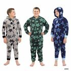Boys RJM Stars Print Hooded Super Soft Fleece Onesies All In One