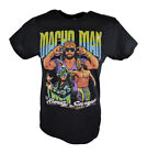 Macho Man Randy Savage Three Pose WWE Mens Black T-shirt