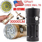30000 Lumens 12 x CREE XM-L T6 LED Flashlight Torch 4x 18650 Hunting Light Lamp