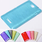 New Deluxe TPU Diamond Fiber Smooth Soft Case Cover for Sony Xperia C S39h C2305