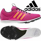 adidas AllRoundStar Junior Pink Orange Girls Womans Spike Track & Field Trainers