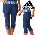 New 2017 Adidas Climalite Tennis Melbourne Line Skirt & Leggings Mystery Blue