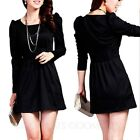 Party Mini womens ladies Long Sleeve summer Career Office shift Dress Size 8