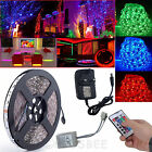 5M 10M 15M 20M RGB 5050 LED Strip Light 24Key IR Remote Adaptor Waterproof Kit