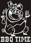 BBQ TIME PIG Vinyl Sticker/Decal grilling cook out pork smoke roast