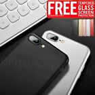 For iPhone 5/5s/SE/6/6S/7/7 Plus Ultra thin Fit Case Hard Cover Tempered Glass