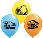"""Qualatex Construction Trucks & Diggers 11"""" Party Balloons - Helium or Air"""