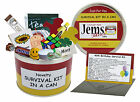 40th BIRTHDAY SURVIVAL KIT IN A CAN. Happy Birthday Keepsake Gift Card Present