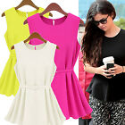 CHIC New Women Summer Vest Top Sleeveless Blouse Casual Tank Tops T-Shirt Blouse