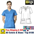 WonderWink Scrubs FLEX Women's V-Neck Short Sleeve Top 6108