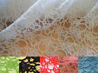 Various OFFCUTS Good Quality Cotton / Nylon Corded Lace Fabric Scalloped Edges