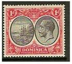 Dominica - 1933, 1d Black & Scarlet stamp - Mint - SG 73