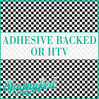 Black & White Checkered Pattern Adhesive Craft Vinyl or HTV for Crafts or Shirts