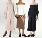 TIBI NEW YORK AGATHE OFF-THE-SHOULDER SCULPTED TOP NWT Black/Ivory/Blush Haze