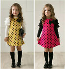 New spring dot girls dresses children's princess gauze clothes girl dress LAN