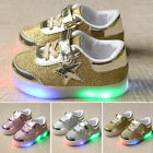 Kids Boys/Girls LED Luminous Lace Up Shoes Trainers Sneakers Charger