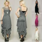 Vintage Women Sheer Lace Party Casual Prom Evening Cocktail Slim Long Dress TXCL