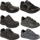 Kids Black School Boys Girls Sports Running Velcro Lace Casual Shoes Trainers UK