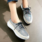 2017 new arrival womens stylish lace up leisure low heel casual shoes walking sz