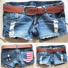 New Women Casual Shorts Hole Denim Jeans Mini Hot Pants Skinny Short Trousers