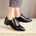 Oxfords Womens Leather Stylish Pointy toe Lace up Low heel Work Leisure Shoes Sz