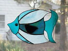 Handmade Stained Glass Tropical BIG FISH SUNCATCHER (F46)