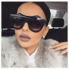 """Retro """"ANDREA"""" SHadow Ombre Gradient Flat Top TEARDROP Thick Frame Sunglasses"""