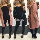 New fashion casual hole cut out spring punk loose cardigan women top blouse coat