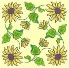 Anemone Quilt Squares 4-DESIGN 2-an Anemone Machine Embroidery single in 4 sizes