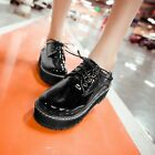 Fashion Women's Creepers Lace Up Oxfords College Casual Gothic Shoes Plus Size