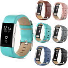 Fit For Fitbit Charge 2 Watch Genuine Leather Wristwatch Strap Band Replacement.