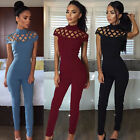 Womens Choker High Neck Caged Sleeve Playsuit Ladies Jumpsuit Size 6-18 Fashion