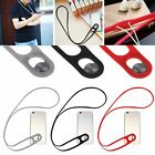 Silicone Lanyard Neck Rope Strap Wrist Band Stick-on Buckle Fr Samsung iPhone LG